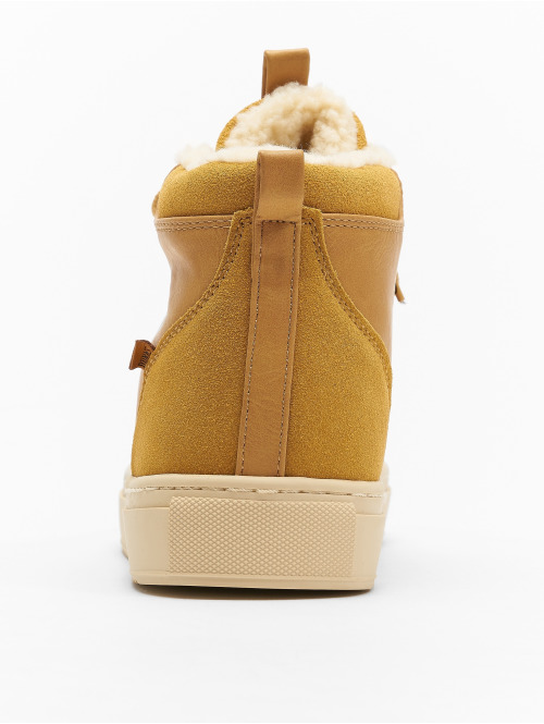 Djinns Sneaker Trek High Fur P-Leather beige