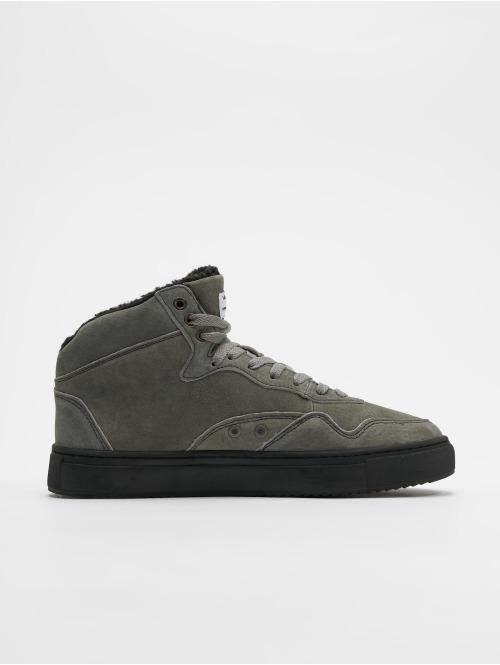 Djinns Sneaker Highwaik Fur grau