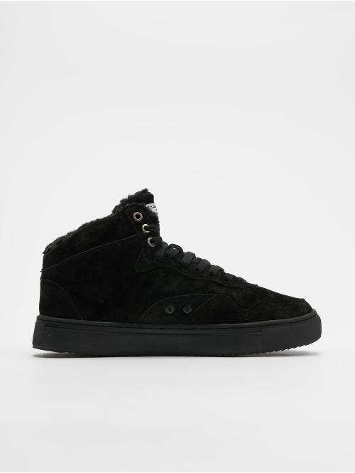 Djinns Sneaker Highwaik Fur schwarz