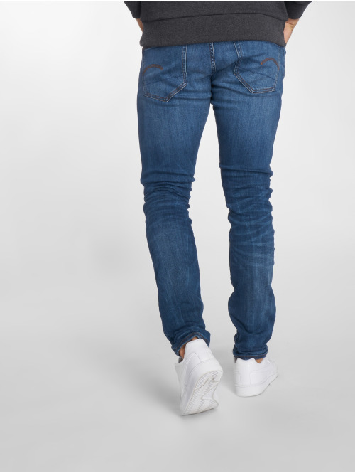 G-Star Skinny Jeans 3301 Elto Superstretch Deconstructed blau