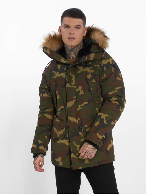 Helvetica Winterjacke Expedition Raccoon Edition camouflage