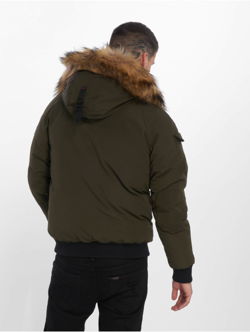Helvetica Winterjacke Anchorage Raccoon Edition khaki