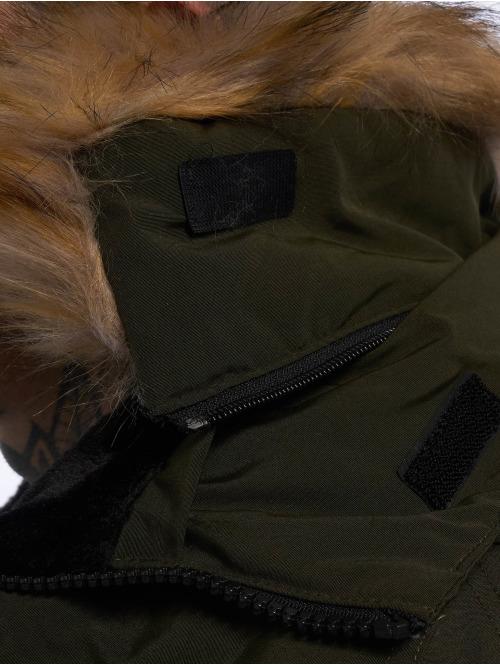 Helvetica Winterjacke Expedition Raccoon Edition khaki