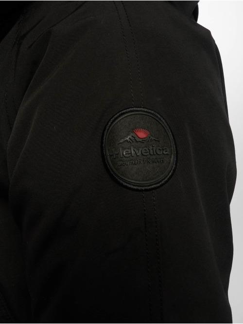 Helvetica Winterjacke Expedition Dark Edition schwarz