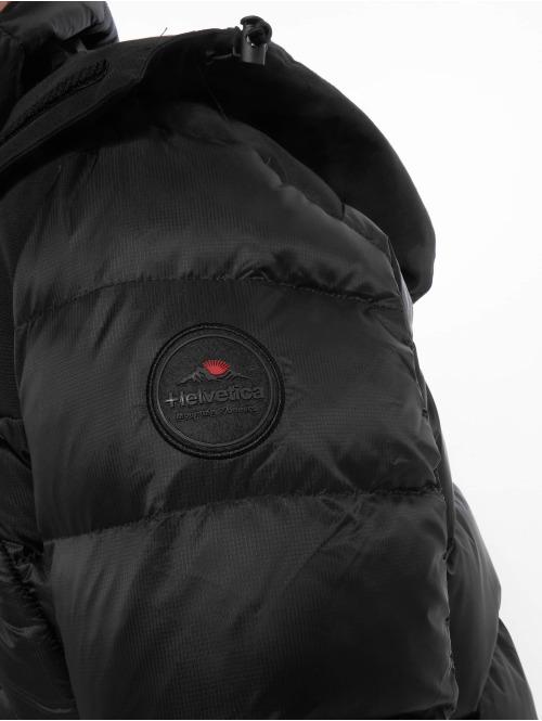 Helvetica Winterjacke Summit schwarz