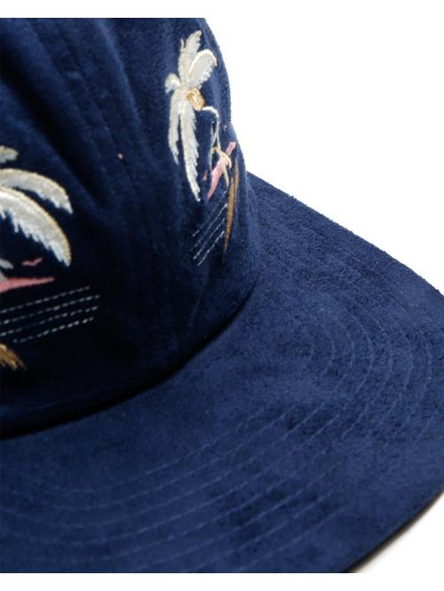 HUF Fitted Cap Souvenir blau