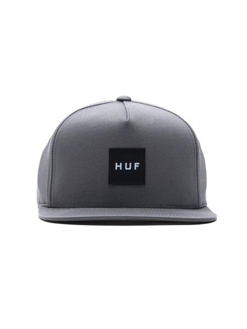 HUF Fitted Cap Box Logo grau