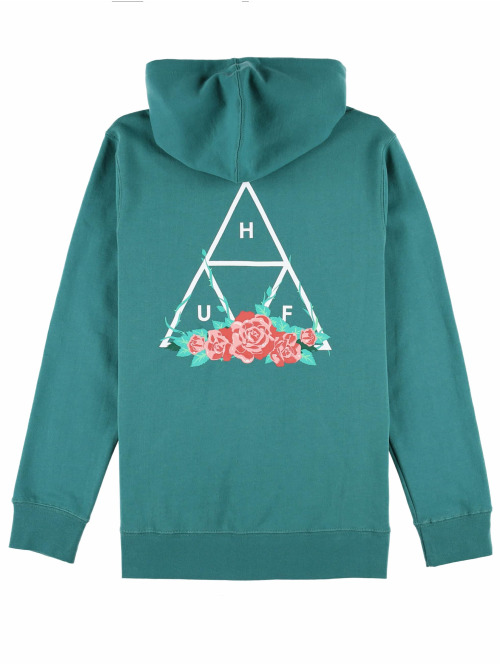 HUF Hoody City Rose grün