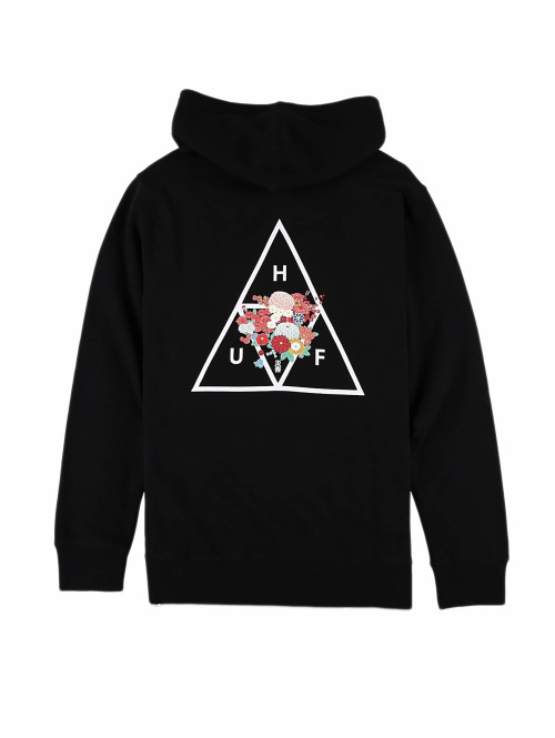 HUF Hoody Mem Triangle schwarz