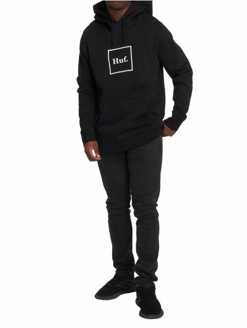 HUF Hoody Box Logo schwarz