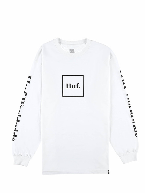 HUF Longsleeve Domestic weiß