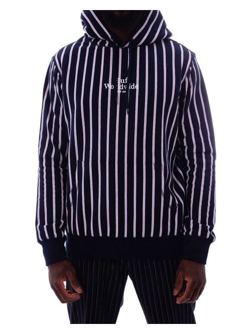 HUF Pullover Sutter Stripe blau