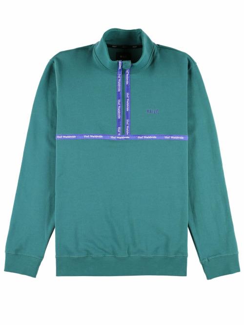 HUF Pullover Midtown 1/2 Zip Fleece grün