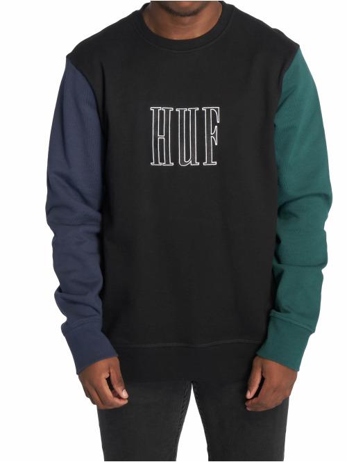 HUF Pullover Huf Crevasse Sweatshirt schwarz