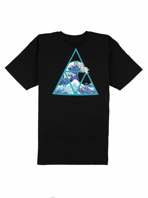 HUF T-Shirt Triangle schwarz