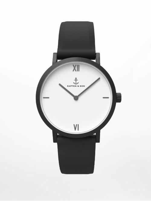 Kapten & Son Uhr Pure Watch schwarz