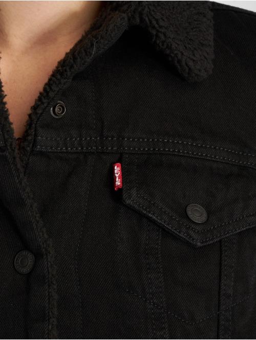 Levi's® Jeansjacken Denim schwarz