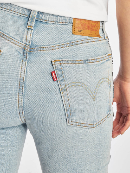 Levi's® Straight Fit Jeans 501® Crop blau