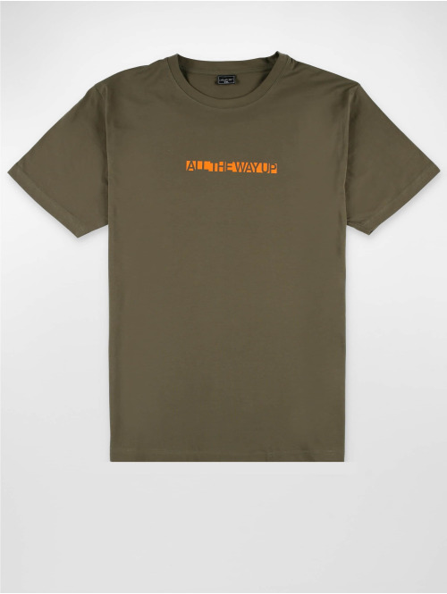 Mister Tee T-Shirt All The Way Up Logo olive