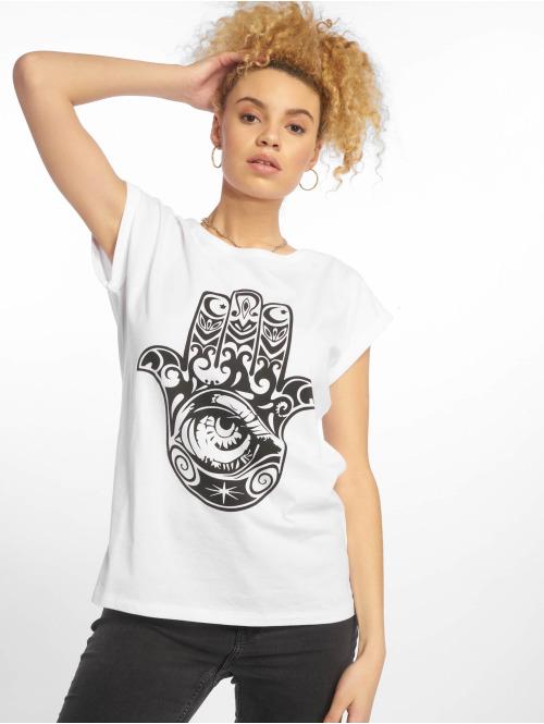 Mister Tee T-Shirt Hand of Fatima weiß