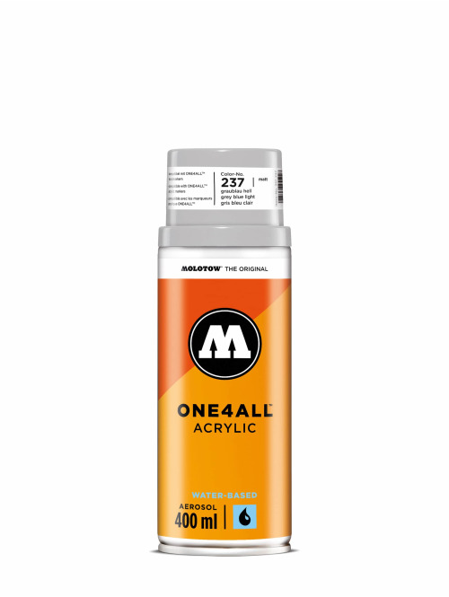 Molotow Bombes One4All Acrylic Spray 400ml Spray Can 237 Graublau Hell gris