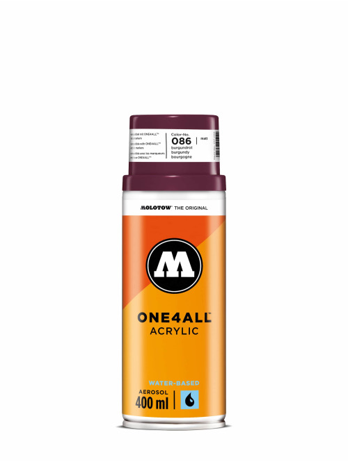 Molotow Bombes One4All Acrylic Spray 400ml Spray Can 086 Burgundrot rouge