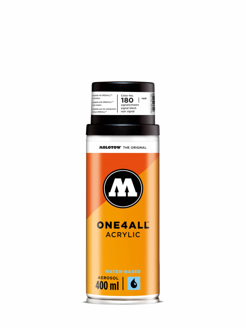 Molotow Spray Cans One4All Acrylic Spray 400ml Spray Can 180 Signalschwarz black