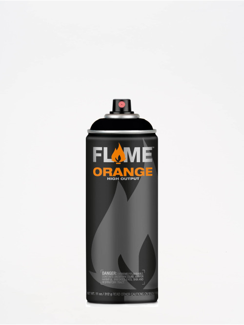 Molotow Spray Cans Flame Orange 400ml Spray Can 904 Tiefschwarz black