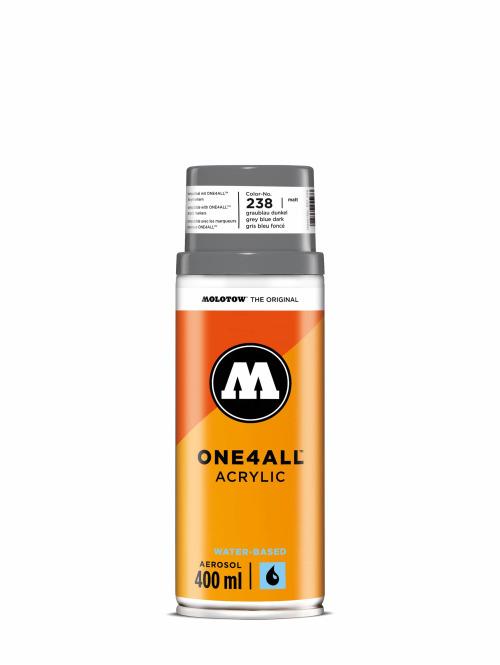 Molotow Spray Cans One4All Acrylic Spray 400ml Spray Can 238 Graublau Dunkel gray