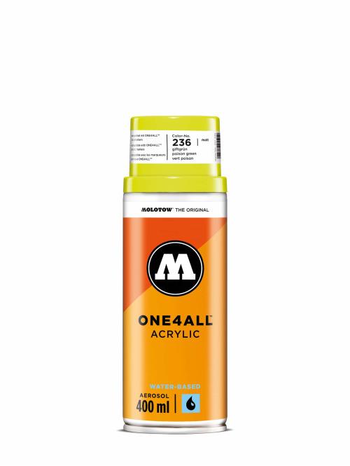Molotow Spray Cans One4All Acrylic Spray 400ml Spray Can 236 Giftgrün green