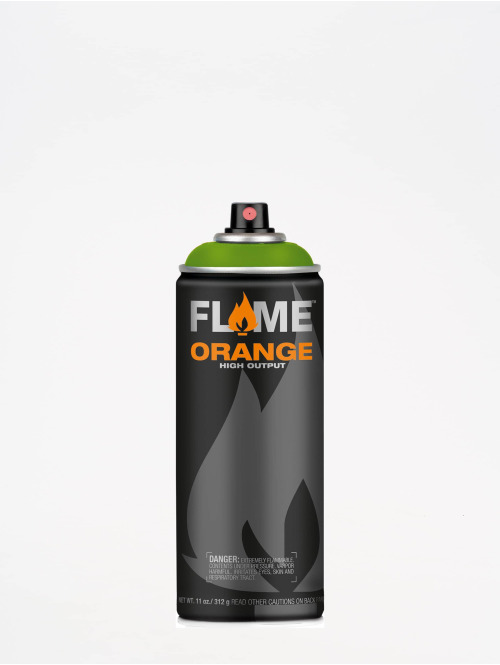 Molotow Spray Cans Flame Orange 400ml Spray Can 644 Kiwi Dunkel green