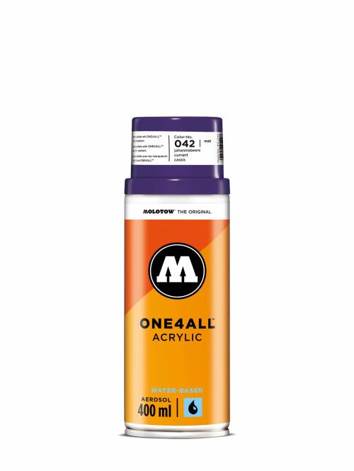 Molotow Spray Cans One4All Acrylic Spray 400ml Spray Can 042 Johannisbeere purple