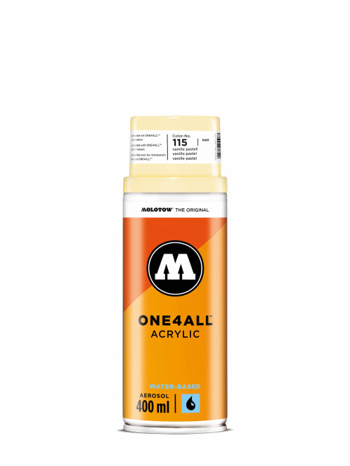 Molotow Spray Cans One4All Acrylic Spray 400ml Spray Can 115 Vanille Pastell yellow