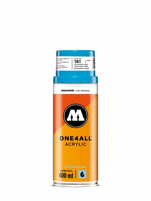 Molotow Spraydosen One4All Acrylic Spray 400ml Spray Can 161 Schockblau Mittel blau