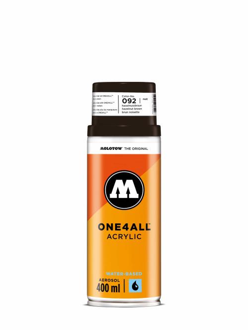 Molotow Spraydosen One4All Acrylic Spray 400ml Spray Can 092 Haselnussbraun braun