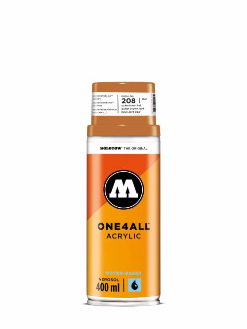 Molotow Spraydosen One4All Acrylic Spray 400ml Spray Can 208 Ockerbraun Hell brazowy