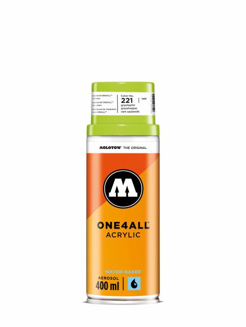 Molotow Spraydosen One4All Acrylic Spray 400ml Spray Can 221 Grashüpfer grün