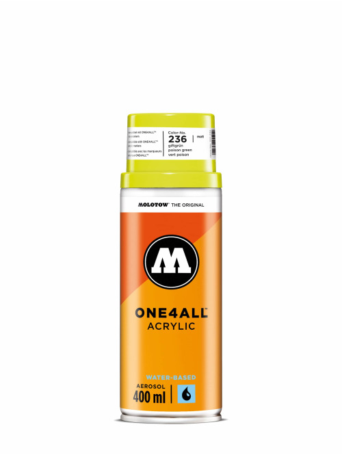 Molotow Spraydosen One4All Acrylic Spray 400ml Spray Can 236 Giftgrün zielony