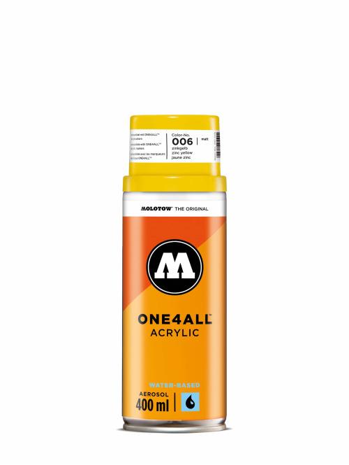 Molotow Spraymaling One4All Acrylic Spray 400ml Spray Can 006 Zinkgelb gul