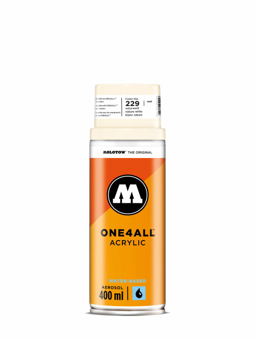 Molotow Spraymaling One4All Acrylic Spray 400ml Spray Can 229 Naturweiß hvit
