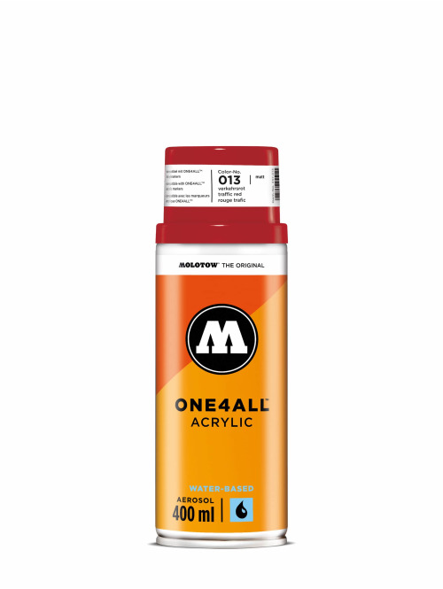 Molotow Spraymaling One4All Acrylic Spray 400ml Spray Can 013 Verkehrsrot red