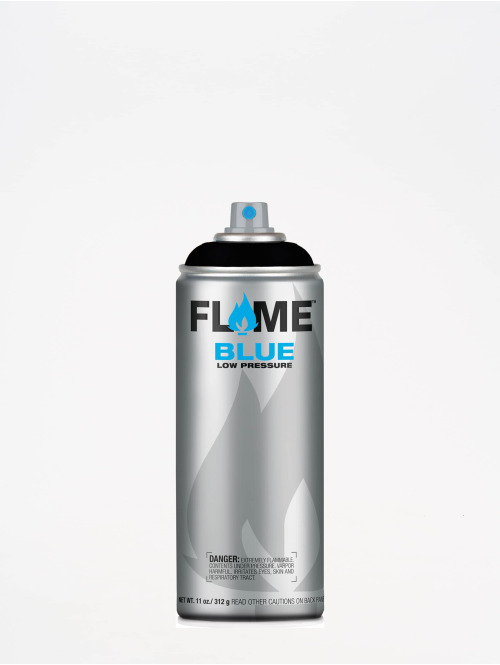 Molotow Spraymaling Flame Blue 400ml Spray Can 904 Tiefschwarz svart