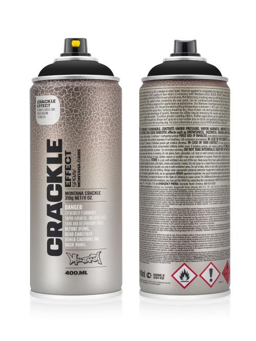 Montana Spraydosen CRACKLE Effect 400ml EC 9017 Traffic Black schwarz