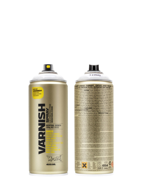 Montana Spraydosen 400ml 1005 Varnish Semi Gloss weiß
