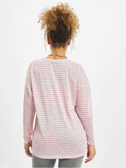 NA-KD Bluse Long Stripe pink