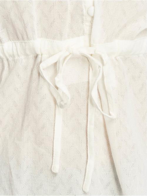 NA-KD Bluse Tie Waist Button weiß