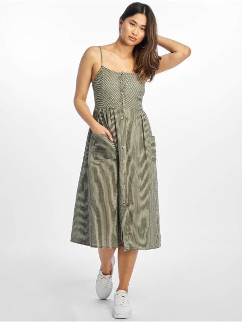 NA-KD Kleid Stripe grün