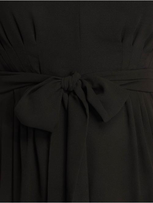 NA-KD Kleid Belted Chiffon schwarz