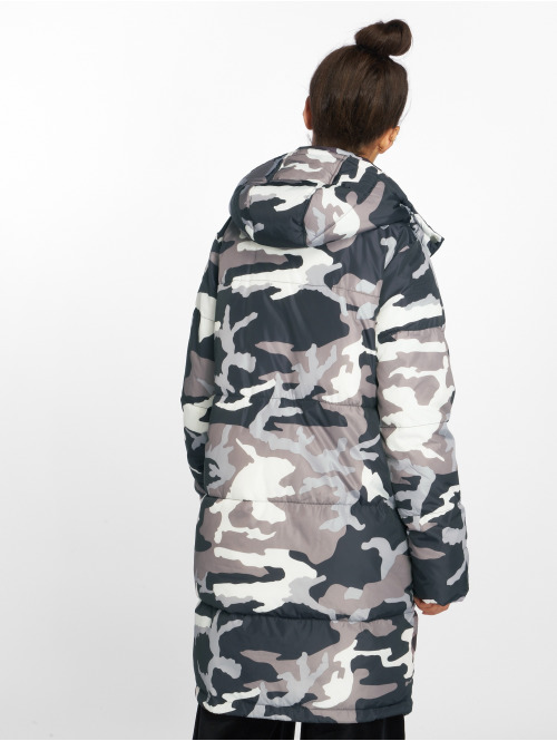 NA-KD Mantel Long Camo Padded camouflage
