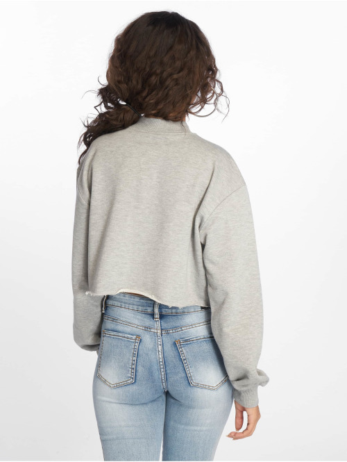 NA-KD Pullover Revolution Cropped grau